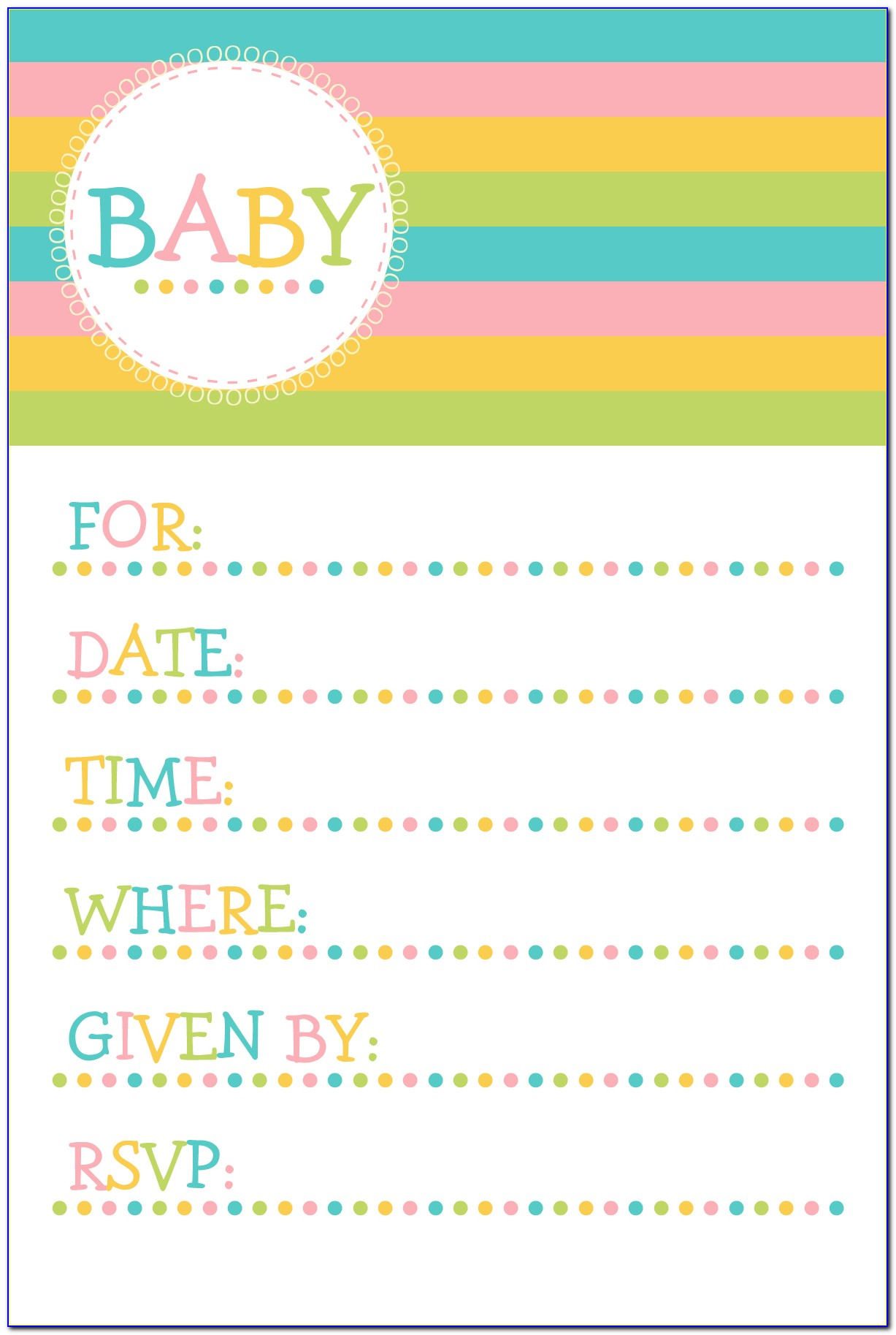 Free Templates For Baby Shower Invitations Girl