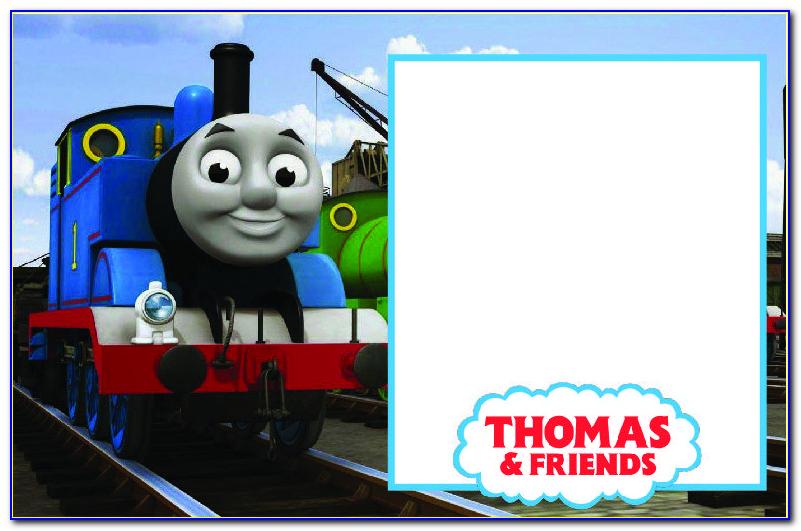 Free Thomas The Train Ticket Invitation Template