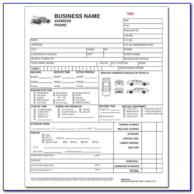 Free Towing Invoice Template Downloads