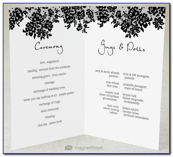 Free Traditional Wedding Program Templates