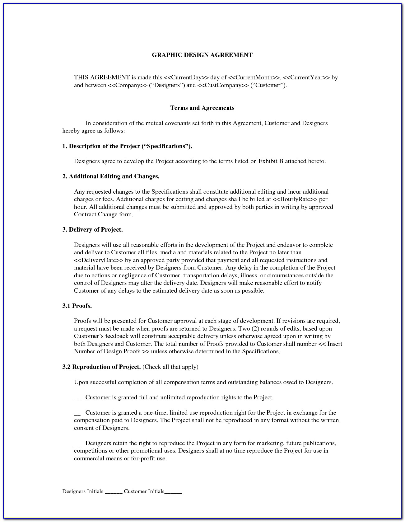 Free Web Design Contract Template Download