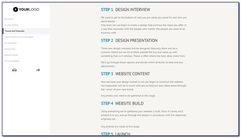 Free Web Design Proposal Template Download