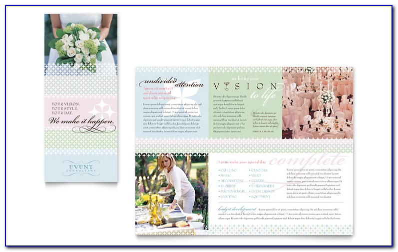 Free Wedding Program Brochure Templates