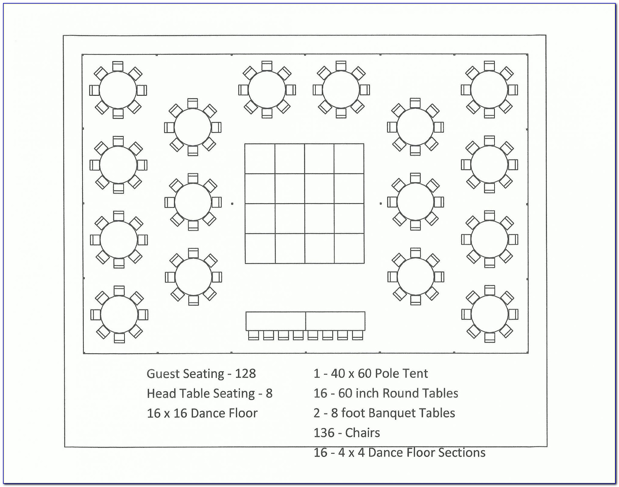 Free Wedding Table Seating Plan Template