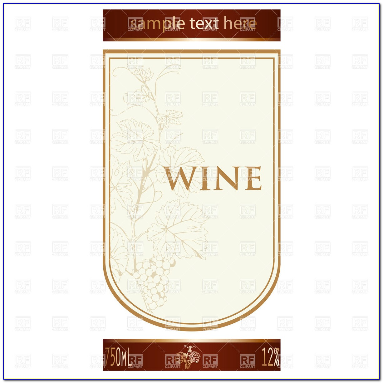 Free Wedding Wine Bottle Label Templates