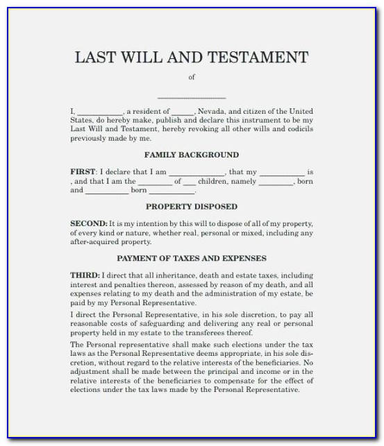 Free Will Codicil Template