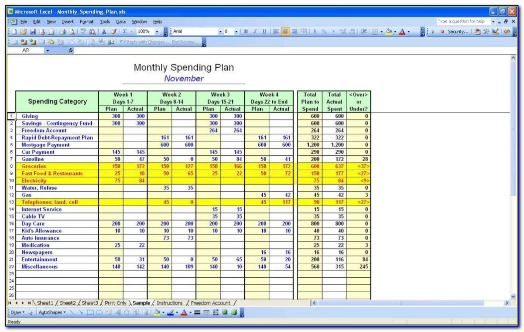 Free Yearly Home Budget Template