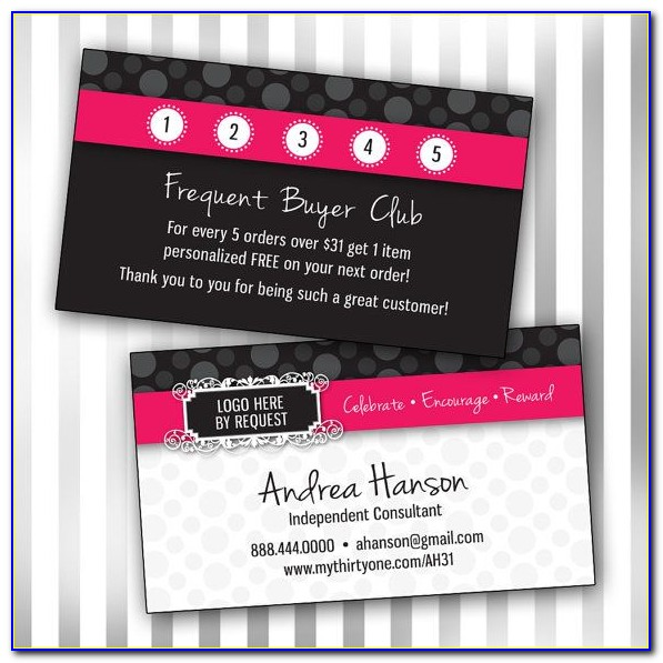 Frequent Buyer Card Template Free