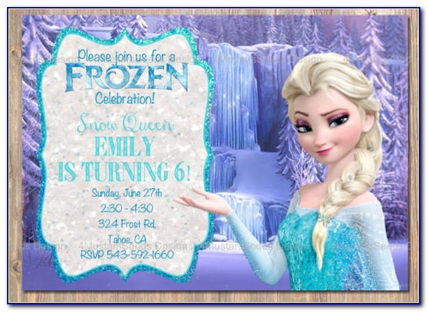 Frozen Birthday Invitation Card Template