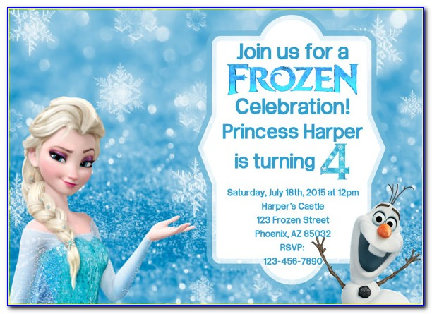 Frozen Birthday Invitation Template Free