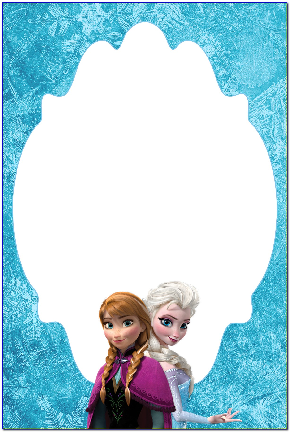 Frozen Birthday Invitation Video Template