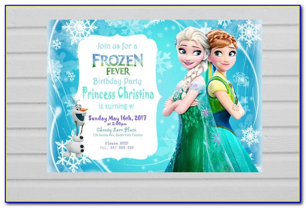 Frozen Greeting Card Template