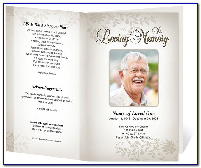 Funeral Booklet Template Free
