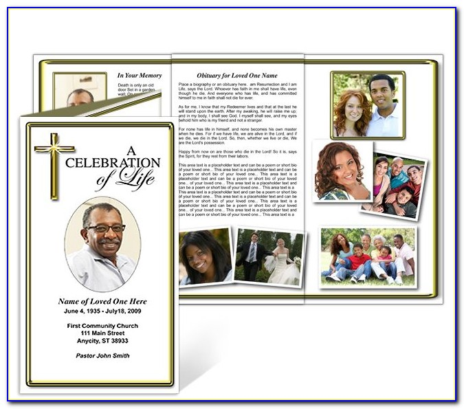 Funeral Booklet Template Pdf