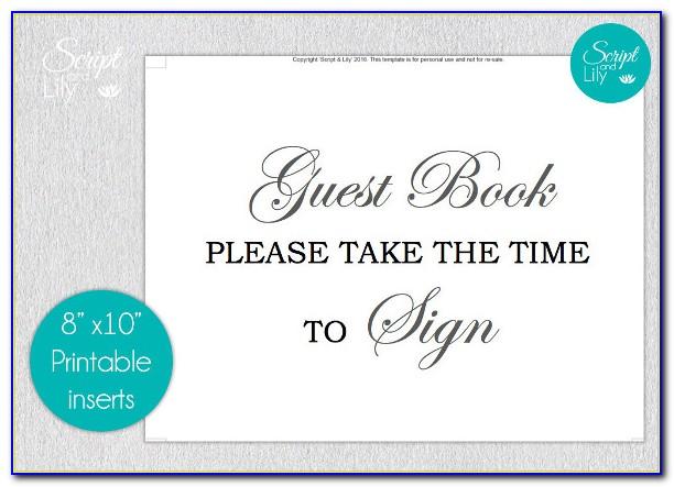 Funeral Memorial Guest Book Template