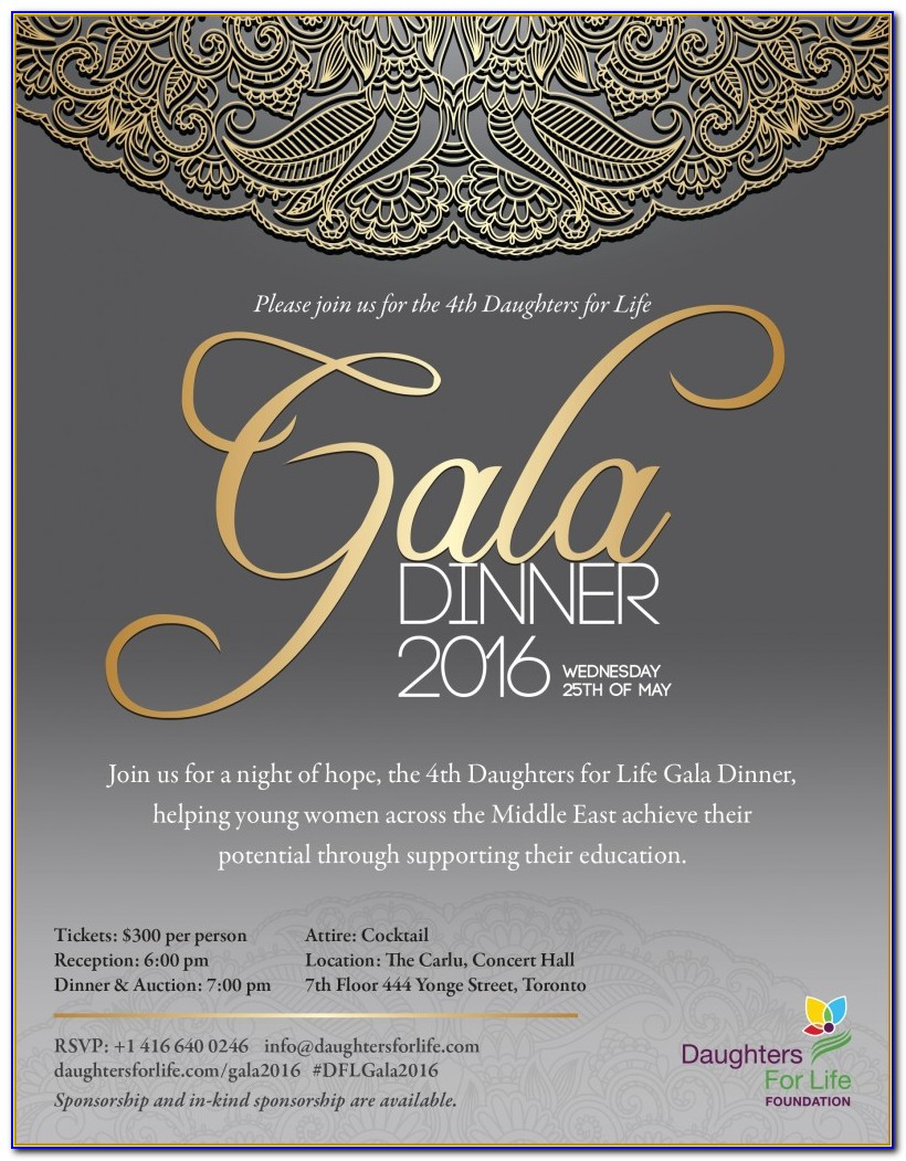 Gala Invitation Template Free Download