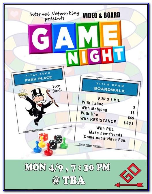 Game Night Invitation Samples
