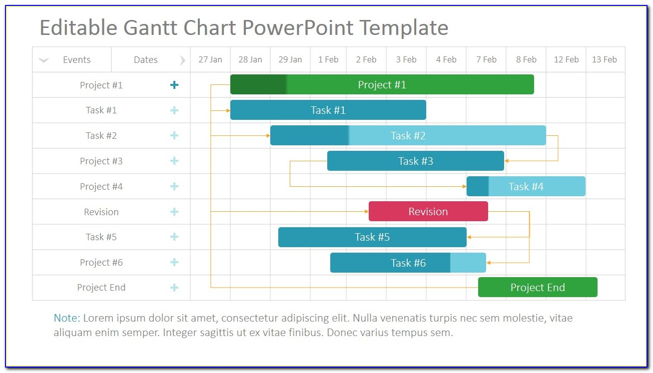 Project Gantt Chart Powerpoint Template Slidemodel Inside Gantt Chart Template Mac