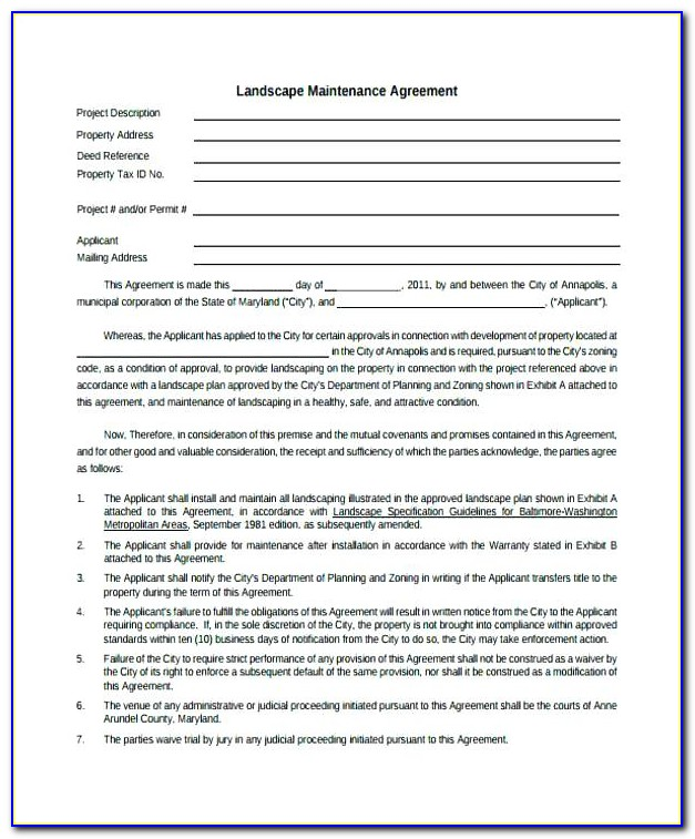 Gardening Contract Template Uk