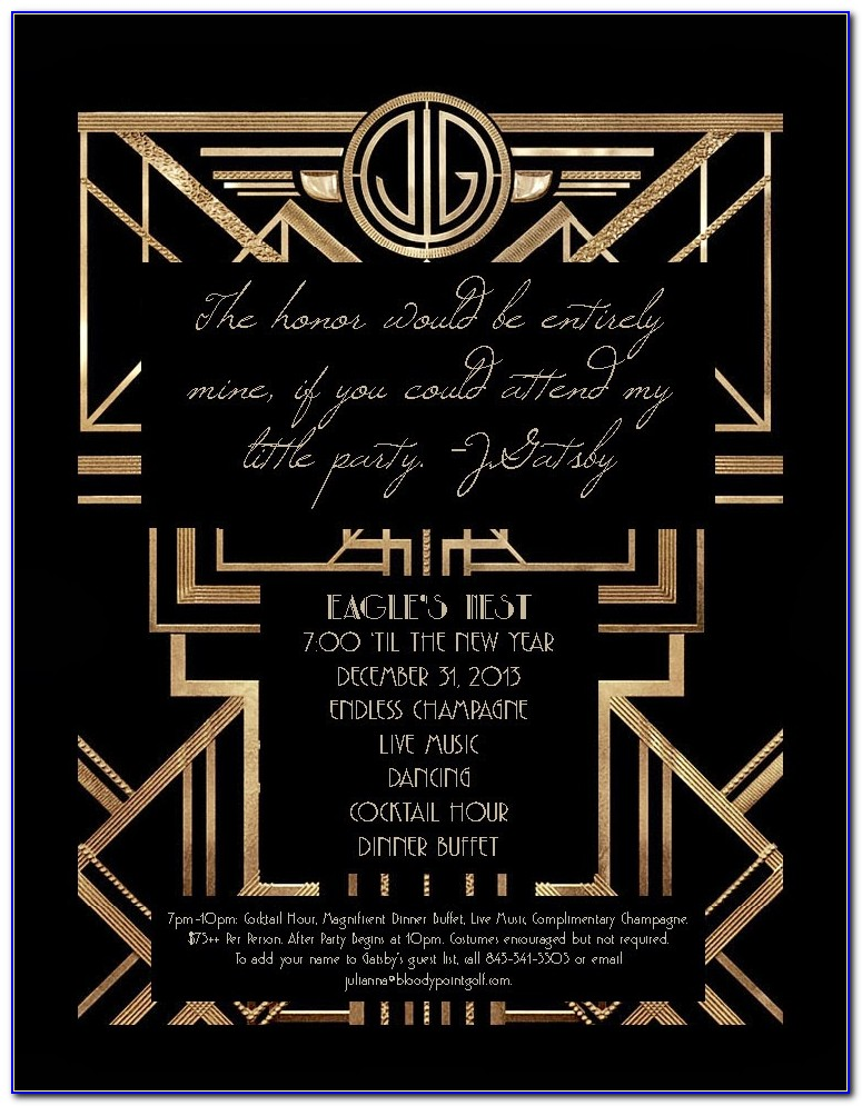 Gatsby Invitation Card Template