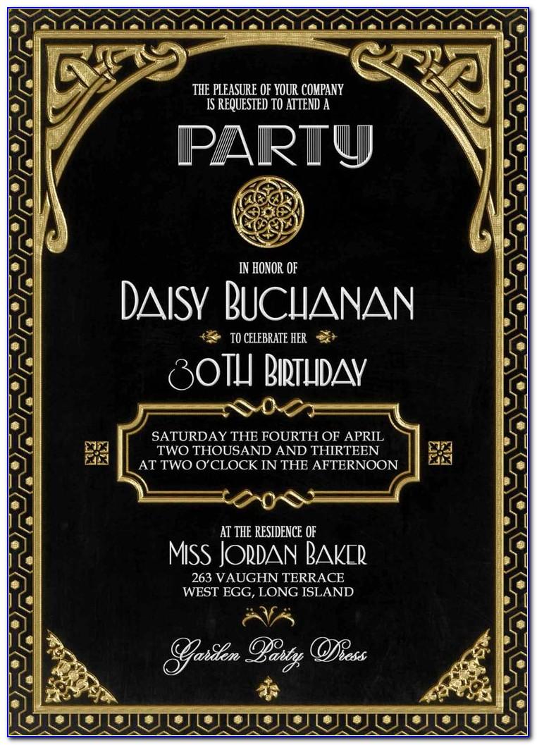 Gatsby Invitation Designs