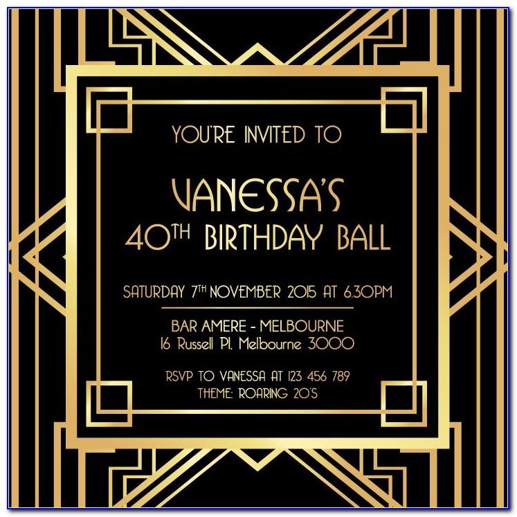 Gatsby Invitation Template