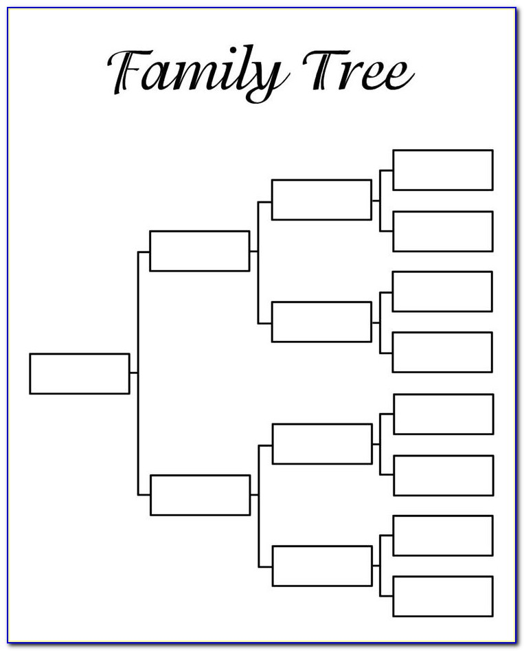 Genealogy Templates For Family Trees
