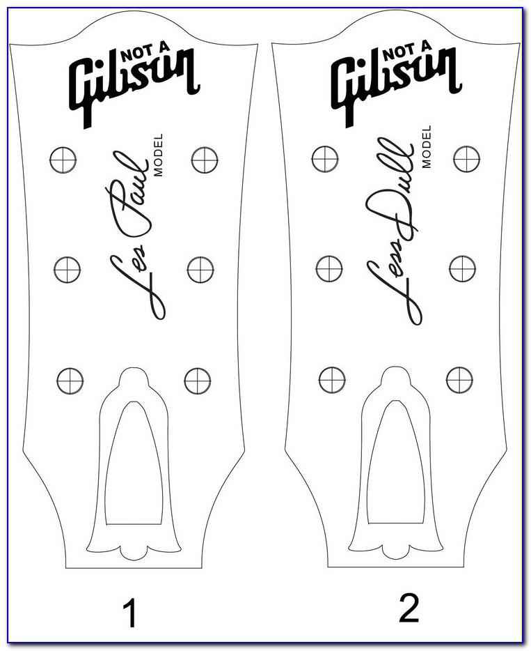 Gibson Les Paul Custom Headstock Template