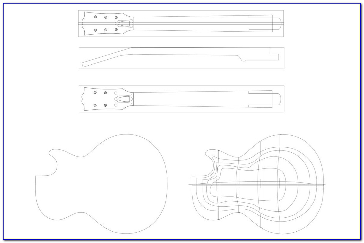 Gibson Les Paul Junior Template