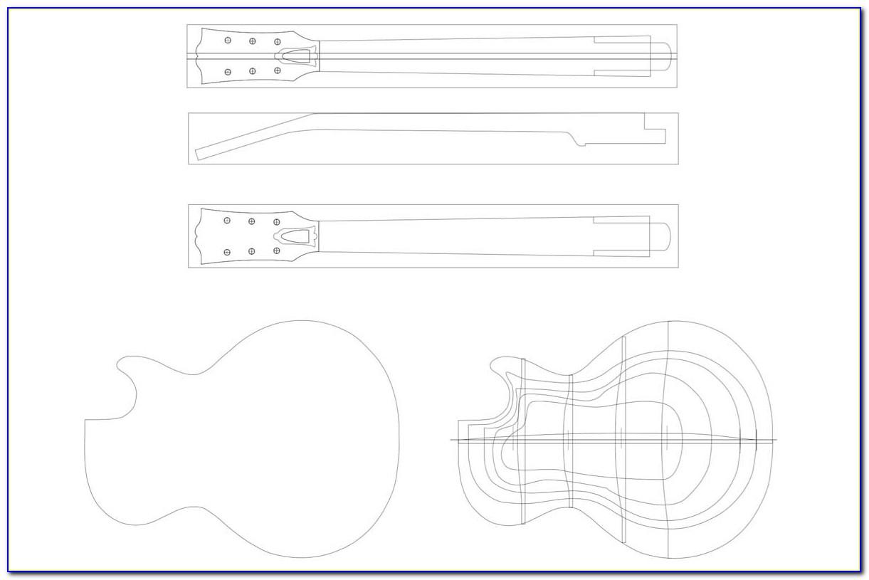 Gibson Les Paul Junior Template