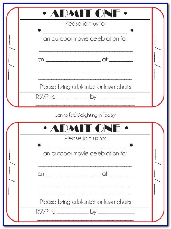 Golden Ticket Party Invitation Template Free