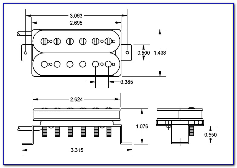 Guitar Pickup Routing Templates