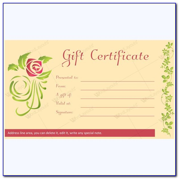Hair Salon Gift Certificate Template Free