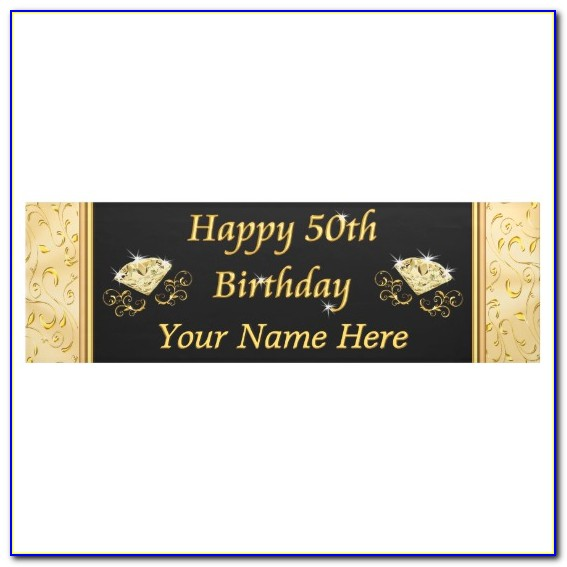 Happy 50th Birthday Banner Template