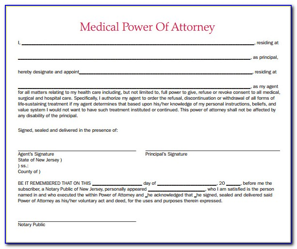 Health Care Power Of Attorney Forms Oregon