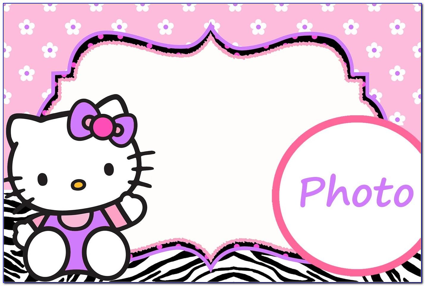 Hello Kitty Birthday Invitation Card Template Free