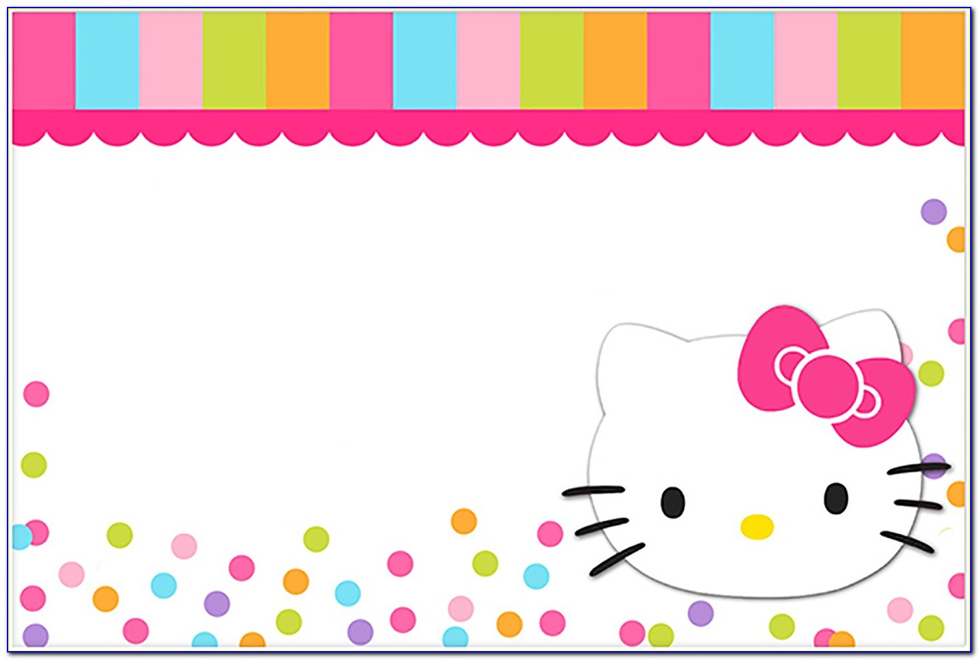 Hello Kitty Free Birthday Invitation Templates