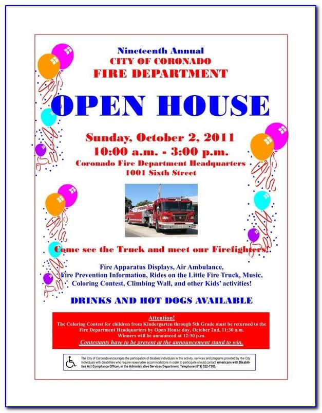 High School Open House Invitation Wording