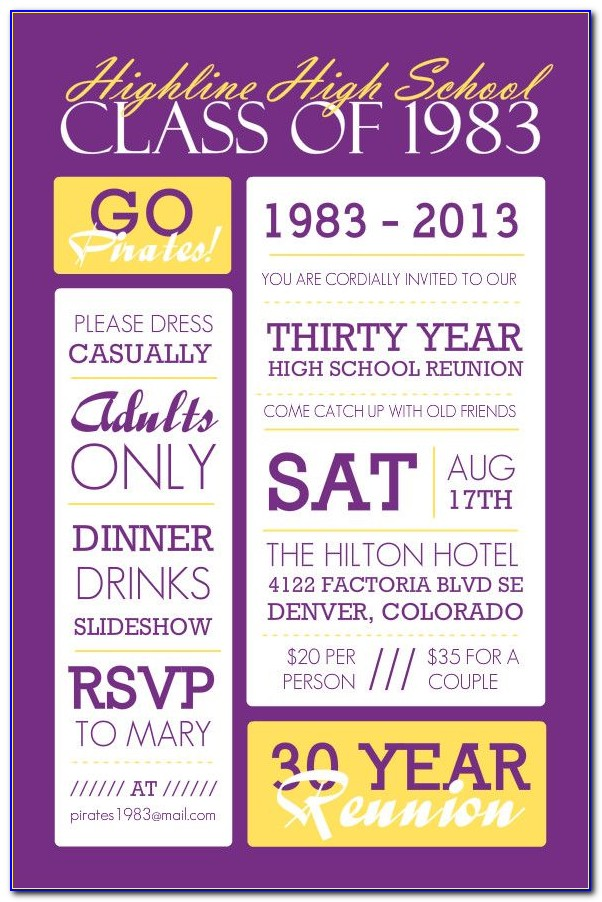 High School Reunion Flyer Designs