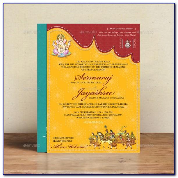 Hindu Wedding Card Template Free Download