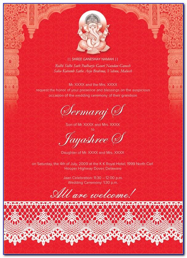 Hindu Wedding Card Templates Online