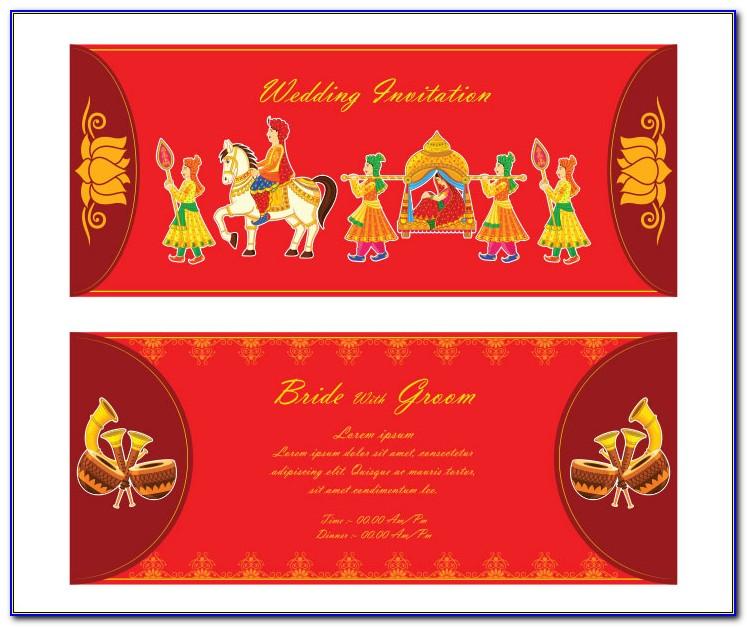 Hindu Wedding Card Templates Psd Free Download
