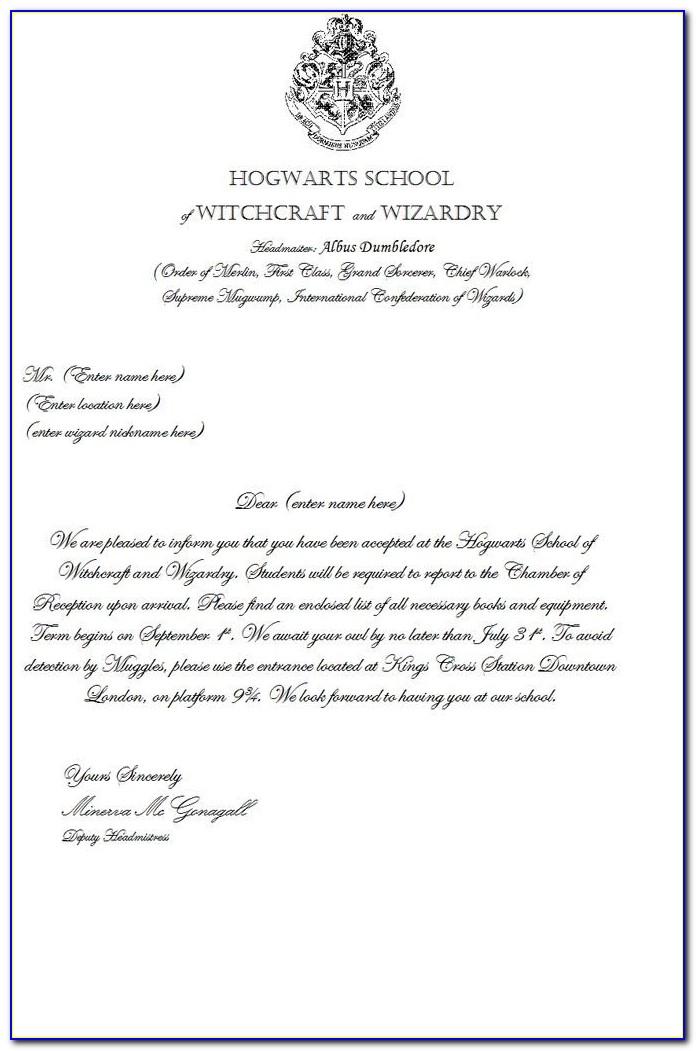 Hogwarts Letter Words