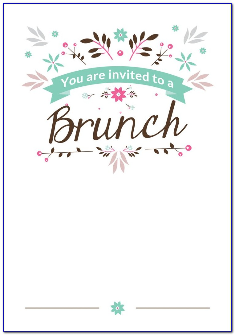 Holiday Breakfast Invitation Template