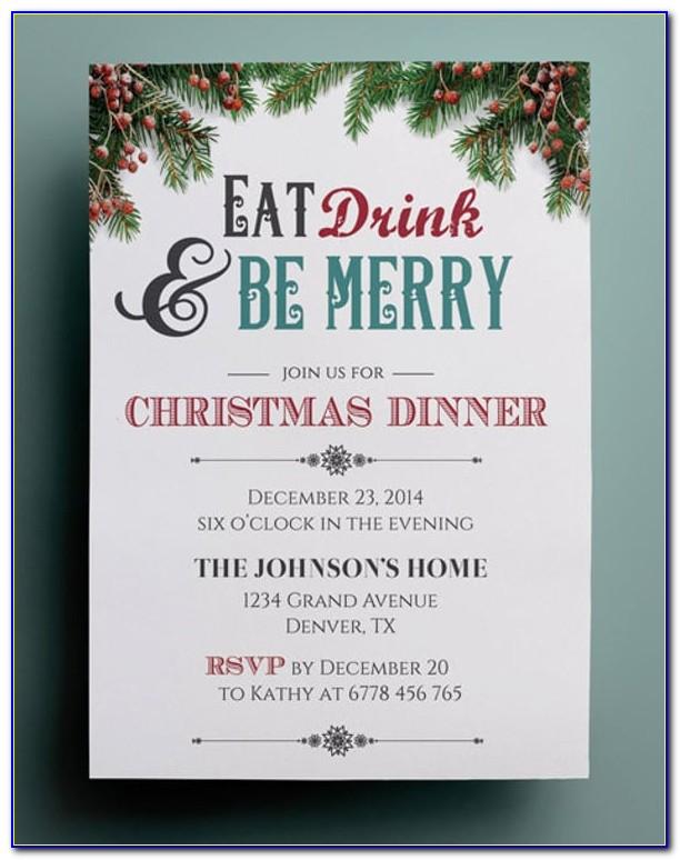 Holiday Dinner Invitation Template Free