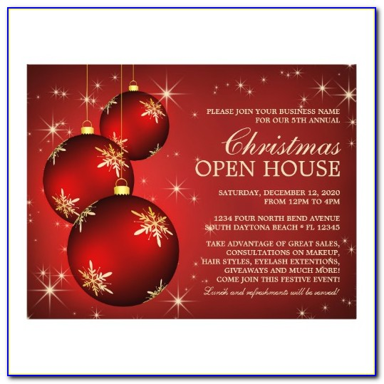 Holiday Open House Invitation Template Word