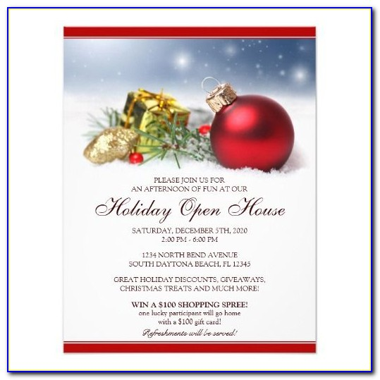 Holiday Open House Invitation Templates Free