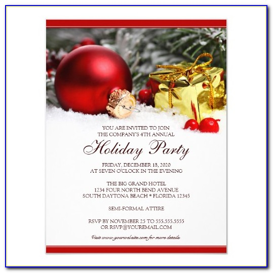 Holiday Party Invitation Sample