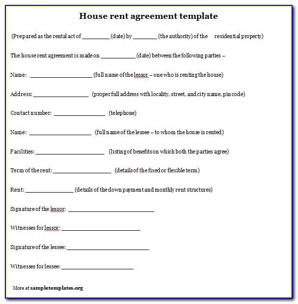Home Rental Contract Template