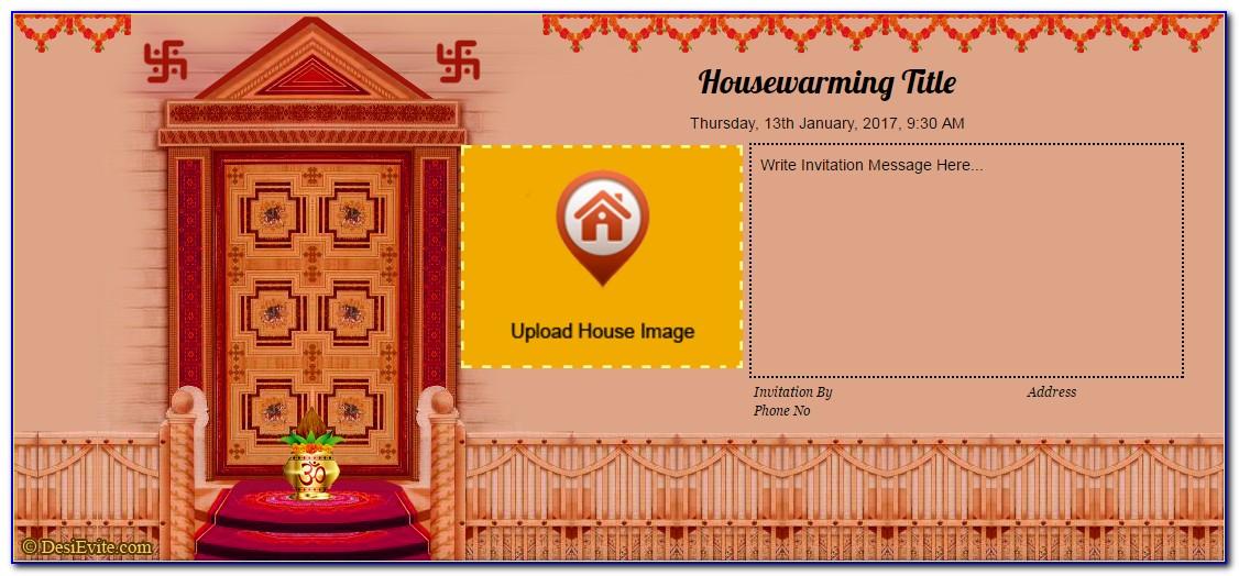 House Warming Pooja Invitation Template